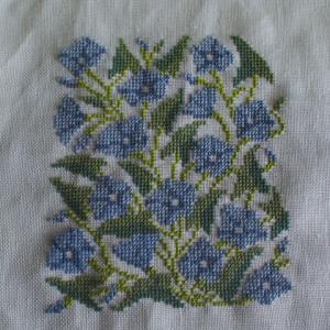フレメ糸でブルーの花(3)完了
