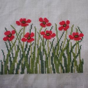フレメの糸で赤い花完成(2)