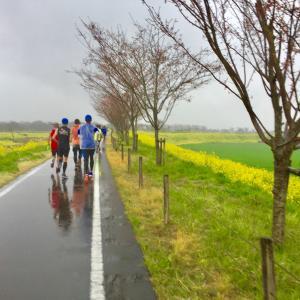 おやま思川ざくらマラソンは雨でした