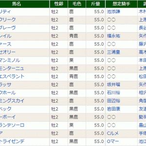 【パンサラッサ】予定通り登録! 12/28ホープフルS・特別登録