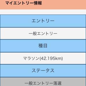 東京マラソン2020 やっぱり(;_;)