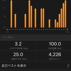 何とか100キロいった(^^)/