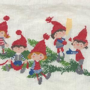 クリスマス刺繍10
