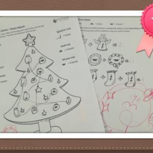 小学生は音符ワークでクリスマスを楽しむ♪