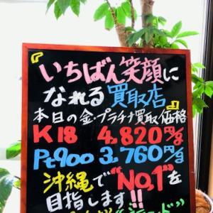 4月22日(木) 金・プラチナ買取価格♪
