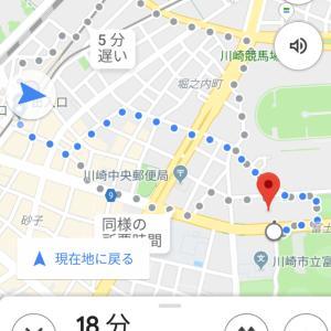 Googleマップとカルッツかわさき