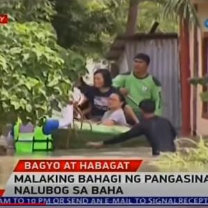 フィリピン豪雨災害、パンガシナン、オロンガポ地方レスキュー出動