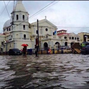 台風22号(Mangkhut)サンフェルナンド・パンパンガ州は冠水