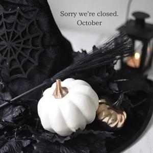 【10月】定休日のお知らせ