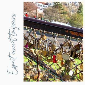 ★愛の南京錠 @Paris 心には鍵をかけないで!