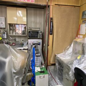 冷媒配管の洗浄作業