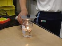 酸素・二酸化炭素が半々の気体なら <ものが燃えるとき>