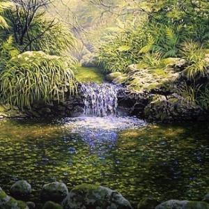 ヤフオク出品「静寂の滝」