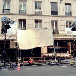 パリの裏通りでフランス映画撮影現場に遭遇!