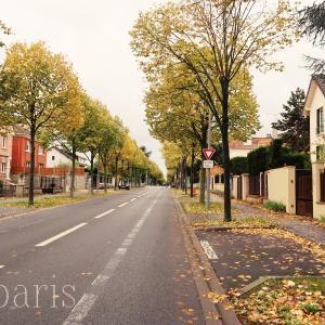 パリ郊外の秋色風景とテテTété
