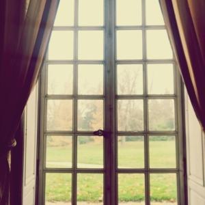 絵のように美しい冬のパリの田園と森とリリーアレン