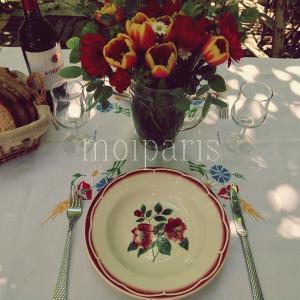 花いっぱいテーブルで野菜たくさんコース