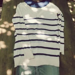紺色の帽子で夏のシンプル3コーデ