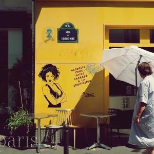 パリのおしゃれ通りのブロカントショップ