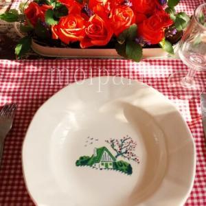 花を飾り直して、フランスの国民食ごはん