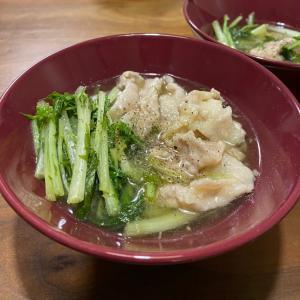 水菜と豚肉のハリハリ や リメイクポテサラ !