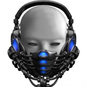 ヘッドセット風な伊達マスク作りました