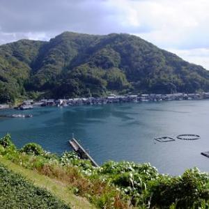 海上から眺めた「伊根の舟屋」