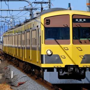 武蔵境駅に到着する西武新101系