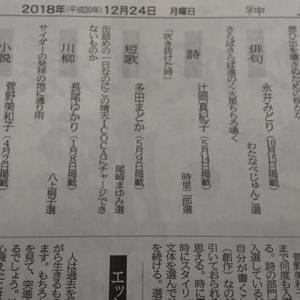 去年(2018年)の神戸新聞文芸・年間最優秀賞の受賞者のページを見て驚いたこと