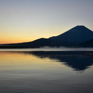 朝の富士山とダイヤモンド富士