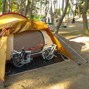 キャンプ2日目は水戸へ