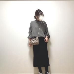 【DHOLIC】ポワンとした袖が可愛いニット+2色買いしたお気に入りスカート