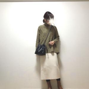 裾フレアが可愛いニット+お気に入りのスカート