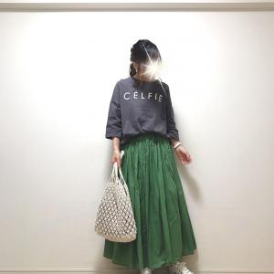 【coca】着映え度120%高評価プチプラスカート+人気ロゴT