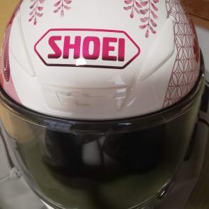 SHOEIのヘルメットと紫外線カットのシールドCWR-1