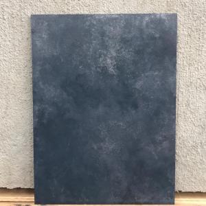 ダークブルーベリーとシルバーの2色で作る〓風合いのある床の塗り方をご提案!