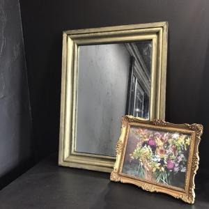 ②鏡の枠をペイントエイジングしました。