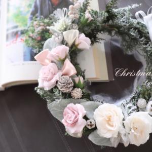 繊細なオーガンジーリボンが可愛い♡ジャビーなクリスマスリースレッスン♪