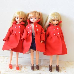 赤のコート、増やしました/本日夜20時より販売開始いたします