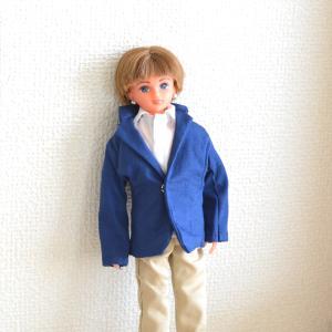 リカちゃんボーイフレンドサイズの紺色のジャケットをお作りしました!/「ホモデウス」事件