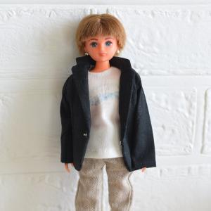 リカちゃんボーイフレンドサイズのジャケット/間違えてお迎えに行きました