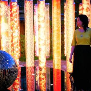 龍づくしな1日と、京友禅ポール 嵐電「嵐山駅」 キモノフォレスト