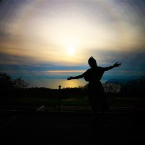 洞爺湖の大きな日輪