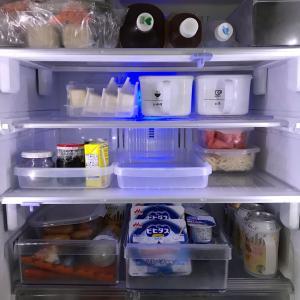冷蔵庫収納、ニトリから100均に乗り換えました♪