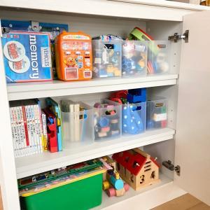 おもちゃが増える時期には、おもちゃ収納の見直し♪2歳児編