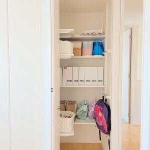 子供部屋の収納エリア。要らないものを捨ててすっきり空間に♪