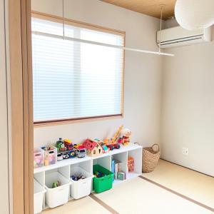【収納】2歳児のおもちゃ収納を隠す収納から見える収納へ♪和室をおもちゃ部屋に。