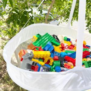 【セリア】オモチャの洗濯ハードルを下げるアイテム。セリアのセーター干しネット♪