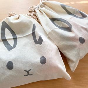 【キャンドゥ】可愛い新作のウサギ巾着をゲットしました〜♪
