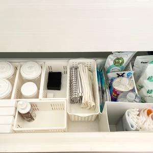 【キッチン】消耗品収納の見直しと収納用品のストック事情。